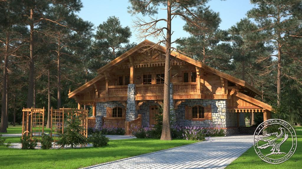 Дома из клееного бруса из кедра