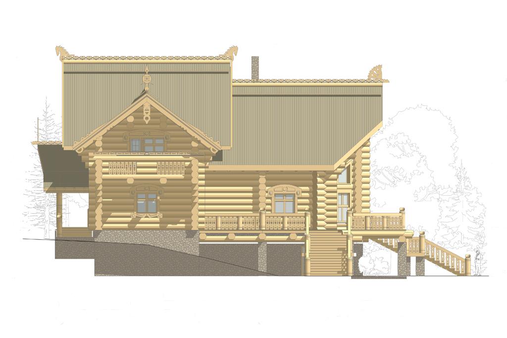 интерьер рубленного деревянного дома фото