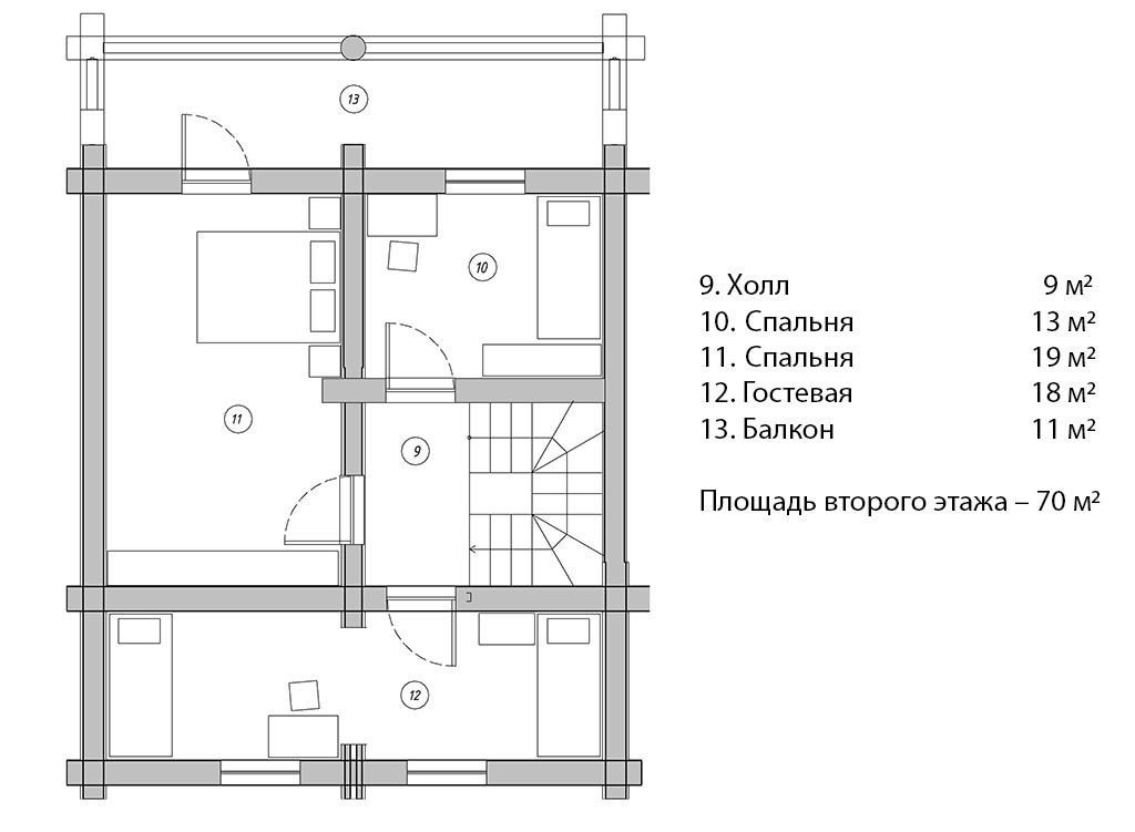 Проекты и планировка дома с печкой 6х6, 7х7, 8х8, 6х8