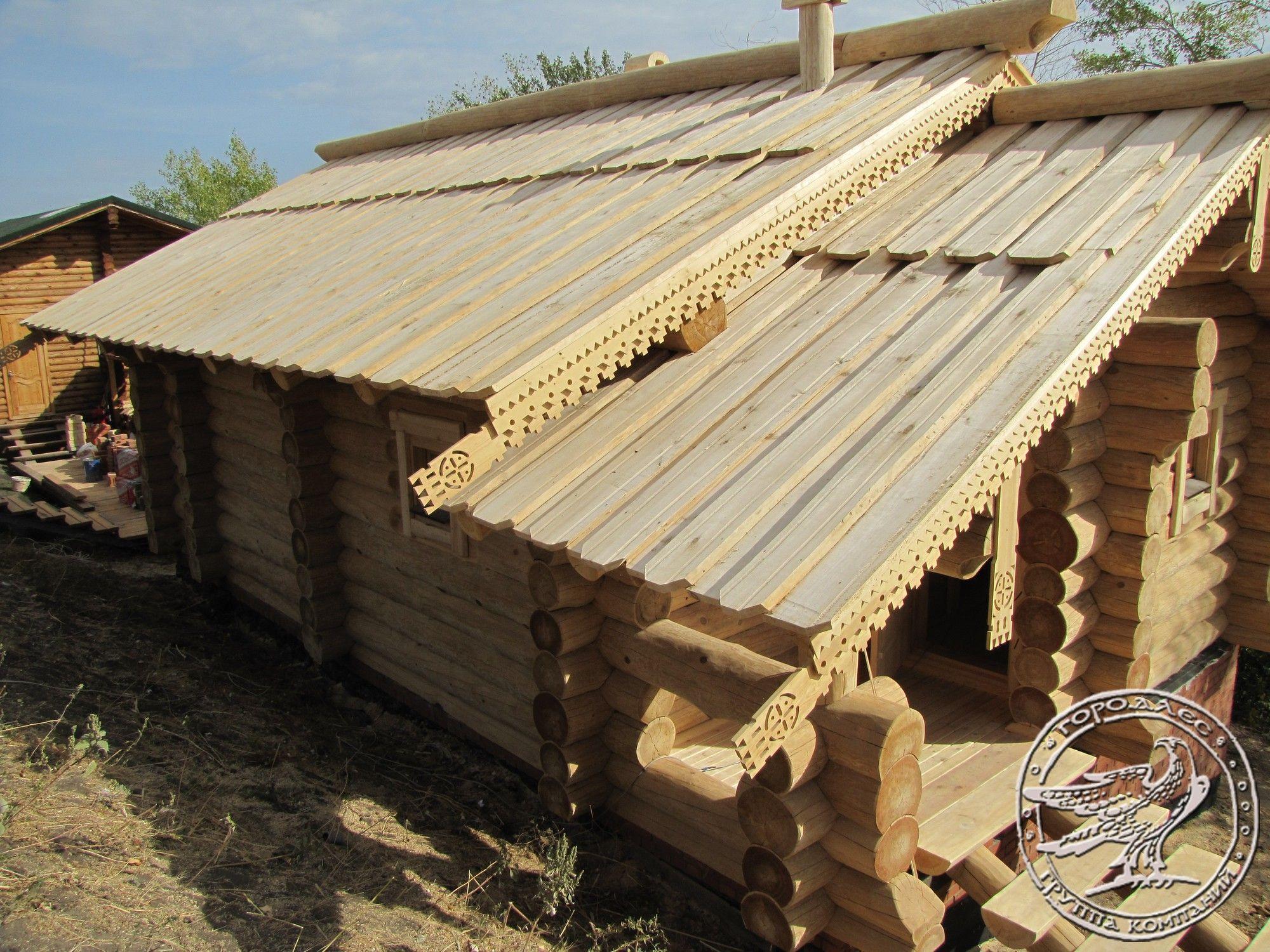Крыши деревянных домов фото